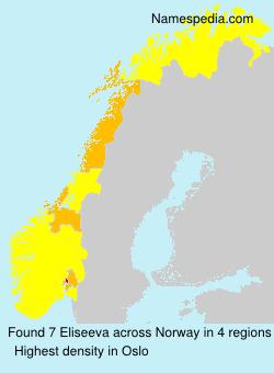 Familiennamen Eliseeva - Norway