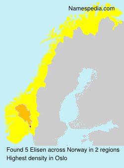 Surname Elisen in Norway