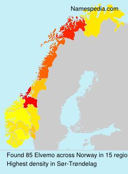 Surname Elvemo in Norway