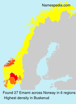 Surname Emami in Norway