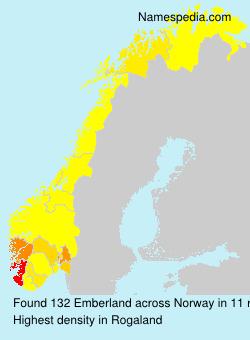 Familiennamen Emberland - Norway