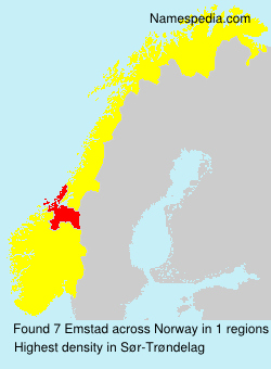 Surname Emstad in Norway