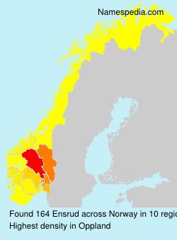 Surname Ensrud in Norway