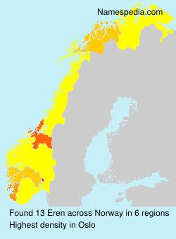Surname Eren in Norway