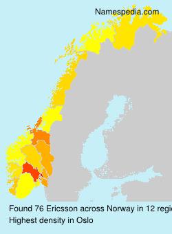Familiennamen Ericsson - Norway