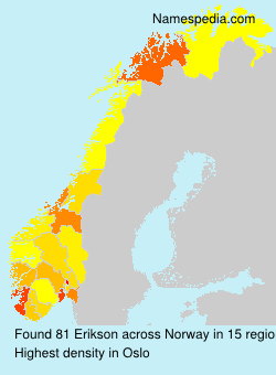 Surname Erikson in Norway