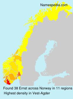 Familiennamen Ernst - Norway
