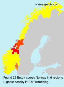 Surname Ersoy in Norway