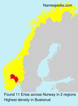 Surname Ertas in Norway