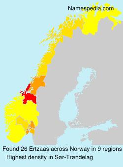 Familiennamen Ertzaas - Norway