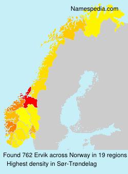Familiennamen Ervik - Norway