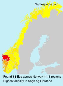 Surname Ese in Norway