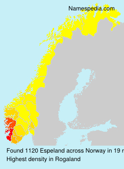 Surname Espeland in Norway
