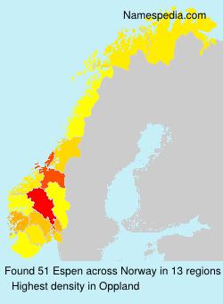 Surname Espen in Norway