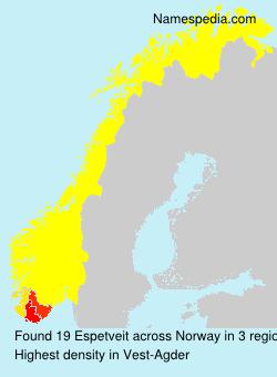 Surname Espetveit in Norway