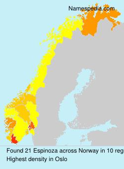 Surname Espinoza in Norway