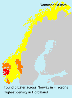 Surname Ester in Norway