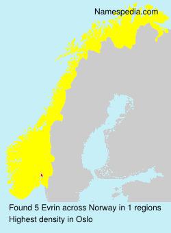 Familiennamen Evrin - Norway