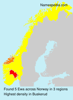 Surname Ewa in Norway