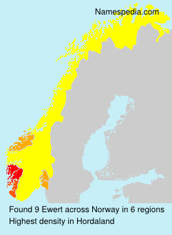 Surname Ewert in Norway