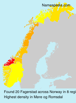 Familiennamen Fagerstad - Norway