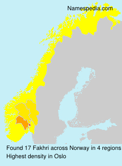Familiennamen Fakhri - Norway