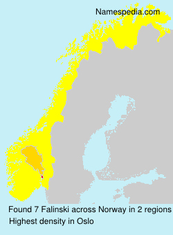 Surname Falinski in Norway
