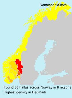 Surname Fallas in Norway