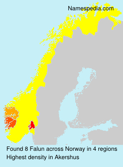 Surname Falun in Norway