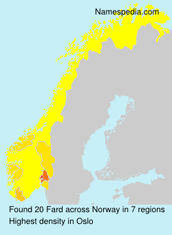 Surname Fard in Norway