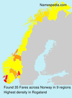 Surname Fares in Norway