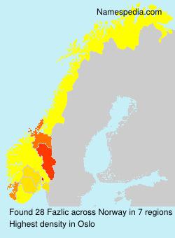 Surname Fazlic in Norway