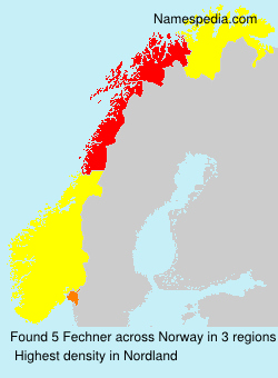 Surname Fechner in Norway