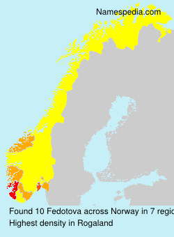 Surname Fedotova in Norway