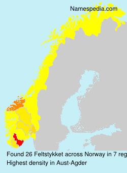 Familiennamen Feltstykket - Norway