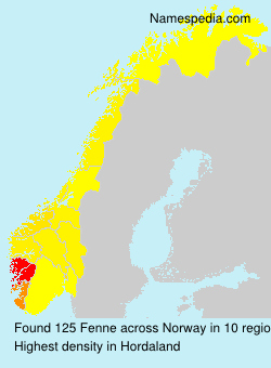 Surname Fenne in Norway