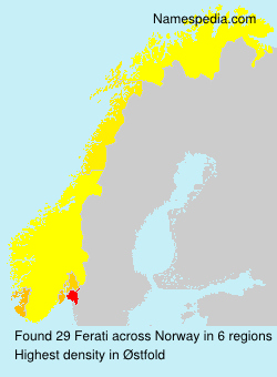 Surname Ferati in Norway