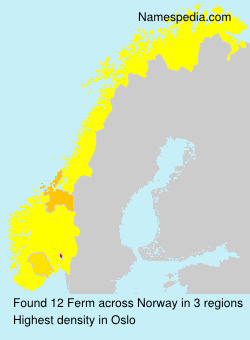 Surname Ferm in Norway