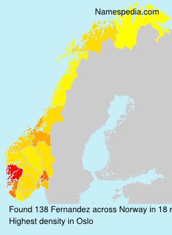 Familiennamen Fernandez - Norway