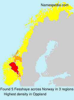 Surname Fesshaye in Norway