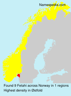 Surname Fetahi in Norway