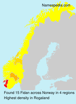 Surname Fidan in Norway