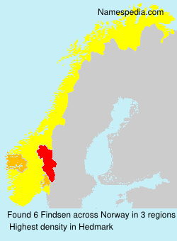 Surname Findsen in Norway