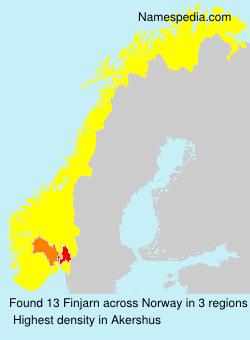Surname Finjarn in Norway