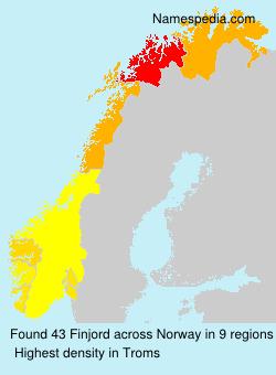 Surname Finjord in Norway