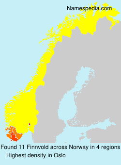 Surname Finnvold in Norway