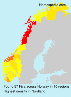 Surname Fiva in Norway