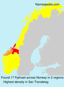 Surname Fjelnset in Norway