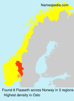Surname Flaaseth in Norway