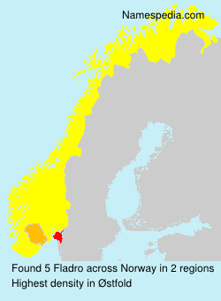 Surname Fladro in Norway